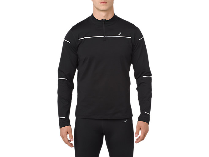 Men's LITE SHOW WINTER LS 12 ZIP TOP | PERFORMANCE BLACK