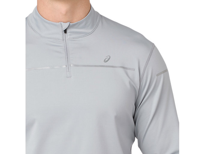 Alternative image view of LITE-SHOW WINTER LS 1/2 ZIP TOP, MID GREY/GLACIER GREY