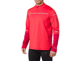 LITE-SHOW WINTER LS 1/2 ZIP TOP, RED ALERT/SAMBA