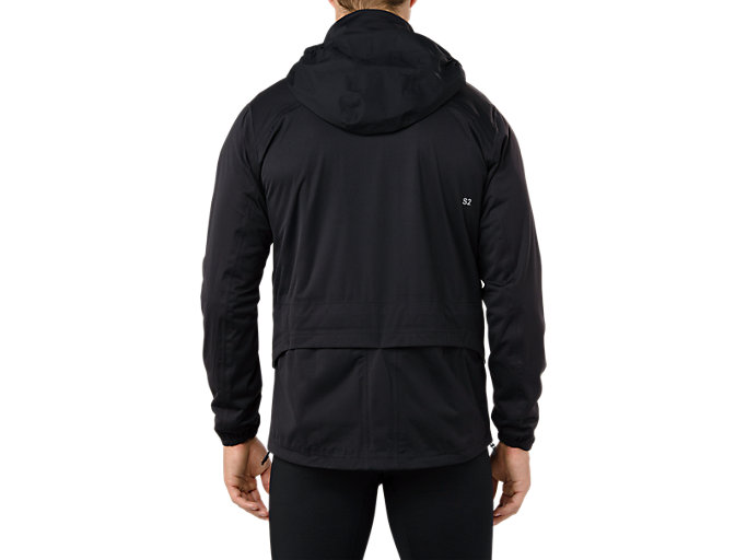 Back view of SYSTEM JACKET, PERFORMANCE BLACK