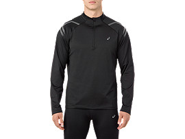 ICON WINTER LS 1/2 ZIP TOP, PERFORMANCE BLACK