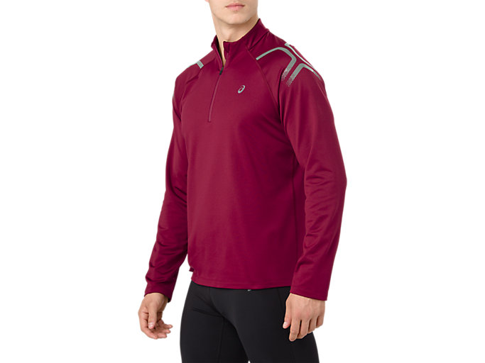 Alternative image view of ICON WINTER LS 1/2 ZIP TOP, CORDOVAN/PERFORMANCE BLACK