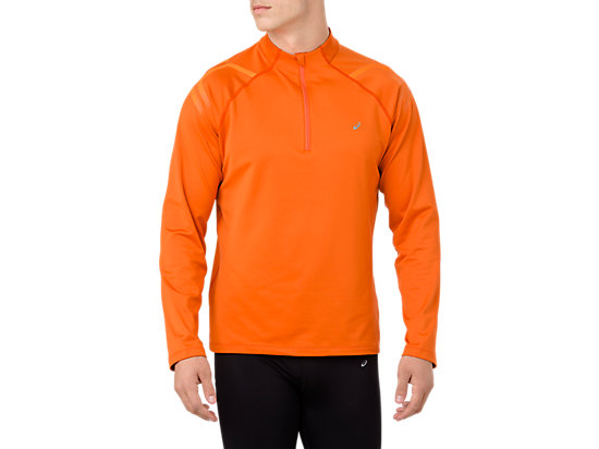 ICON WINTER LS 1/2 ZIP TOP, LAVA ORANGE/AMBER