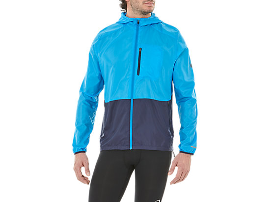 PACKABLE JACKET, RACE BLUE/PEACOAT