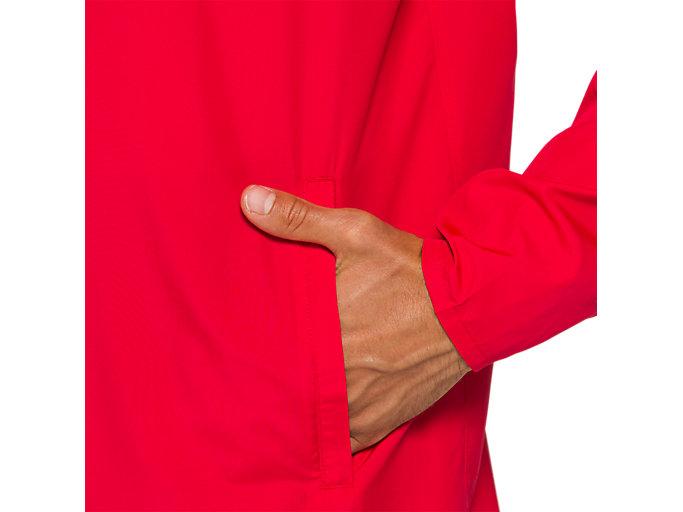 Alternative image view of ランニングウーブンジャケット, クラシックレッド