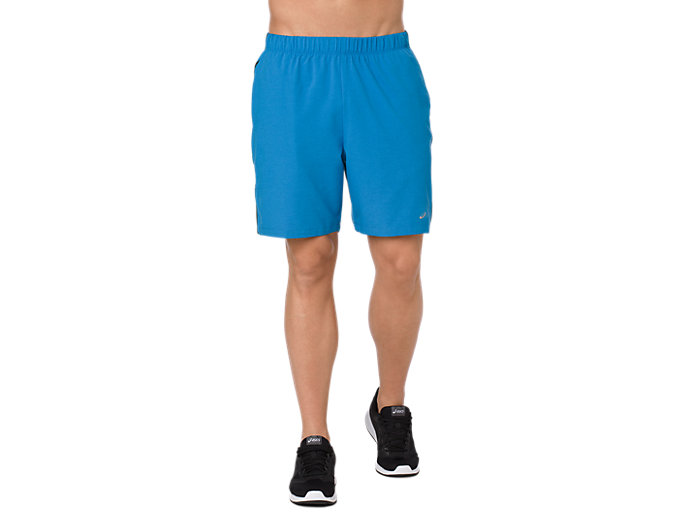 Front Top view of 7IN SHORTS, RACE BLUE HEATHER