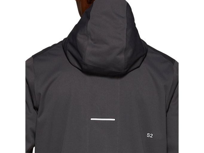 Back view of ACCELERATE JACKET, GRAPHITE GREY