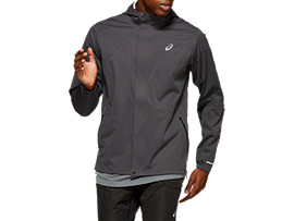 Front Top view of ACCELERATE JACKET, GRAPHITE GREY