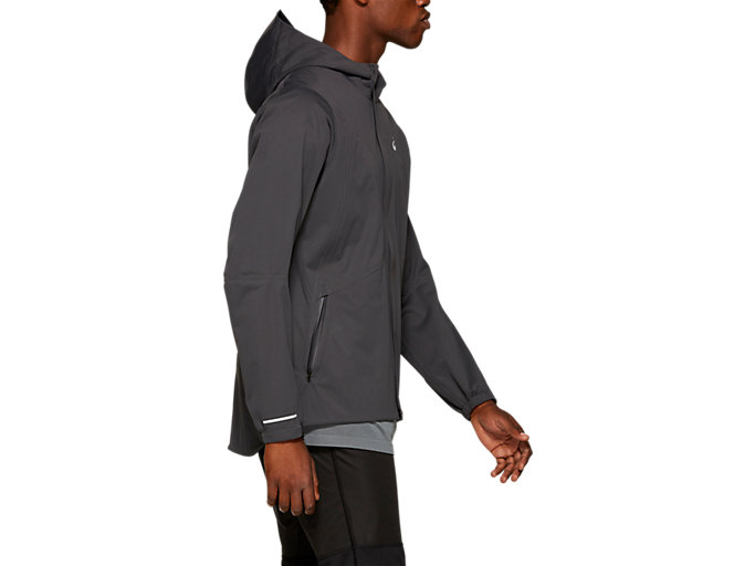 Side view of ACCELERATE JACKET, GRAPHITE GREY