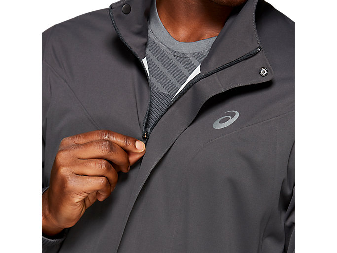 Alternative image view of ACCELERATE JACKET, GRAPHITE GREY