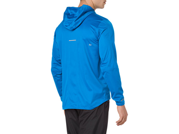 Back view of ACCELERATE JACKET, RACE BLUE