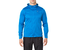 Front Top view of ACCELERATE JACKET, RACE BLUE