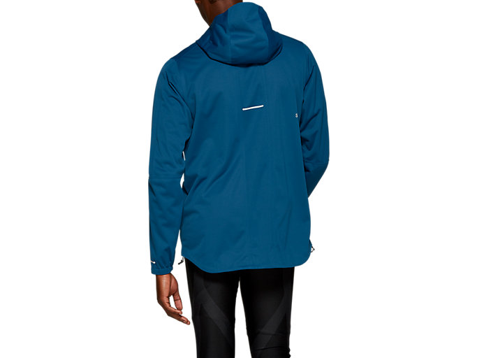 Back view of ACCELERATE JACKET, MAKO BLUE