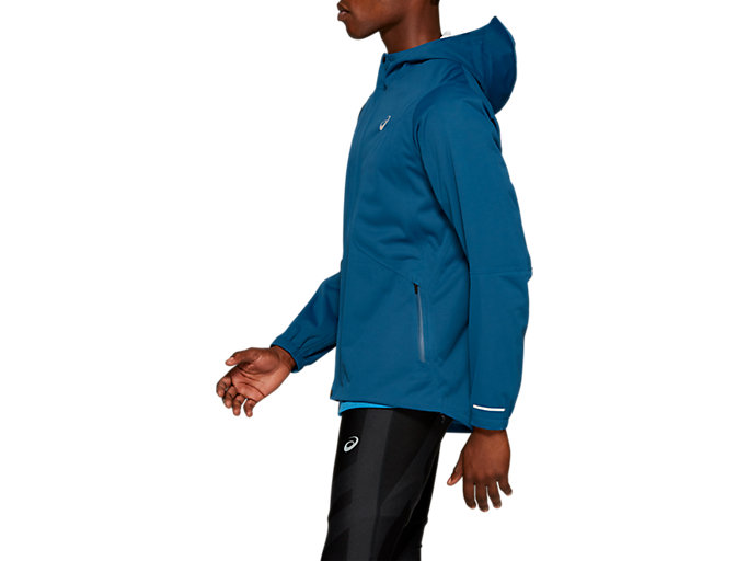 Side view of ACCELERATE JACKET, MAKO BLUE