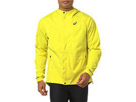 Front Top view of ACCELERATE JACKET, LEMON SPARK