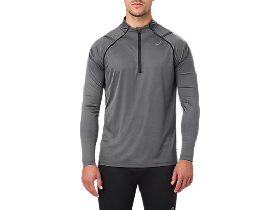 ICON LS 1/2 ZIP, DARK GREY HEATHER/PERFORMANCE BLACK