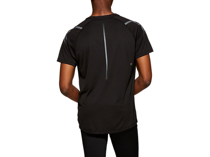 Back view of ICON SS TOP, SP PERFORMANCE BLACK