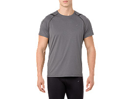 ICON SS TOP, DARK GREY/PERFORMANCE BLACK