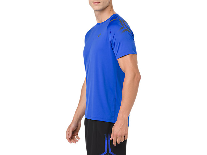 Side view of ICON SS TOP, ILLUSION BLUE/DARK GREY