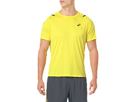 ICON SS TOP, LEMON SPARK/DARK GREY