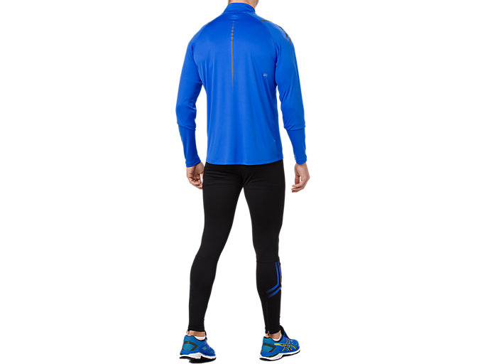 Back view of ICON TIGHT, PERFORMANCE BLACK/ILLUSION BLUE