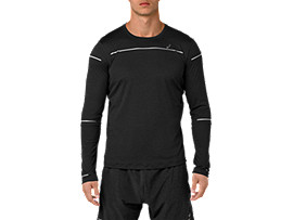 Lite-Show Langarm-Running Top für Herren, PERFORMANCE BLACK