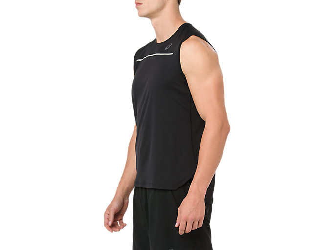 Side view of LITE-SHOW SLEEVELESS, PERFORMANCE BLACK