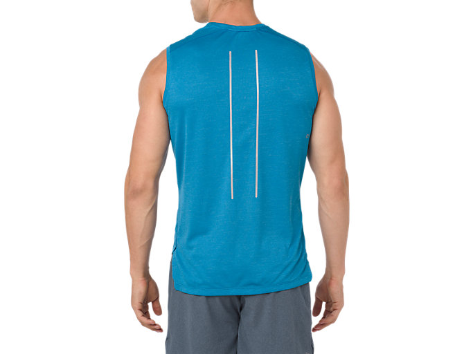 Back view of LITE-SHOW SLEEVELESS, RACE BLUE