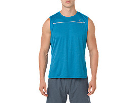 LITE-SHOW SLEEVELESS, RACE BLUE