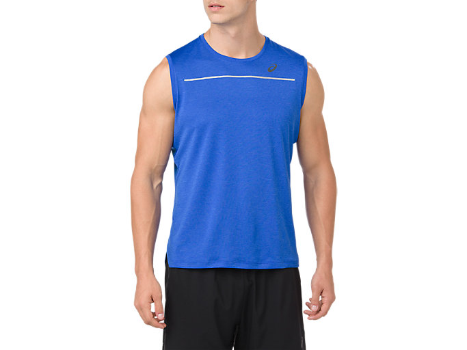 Front Top view of LITE-SHOW SLEEVELESS, ILLUSION BLUE