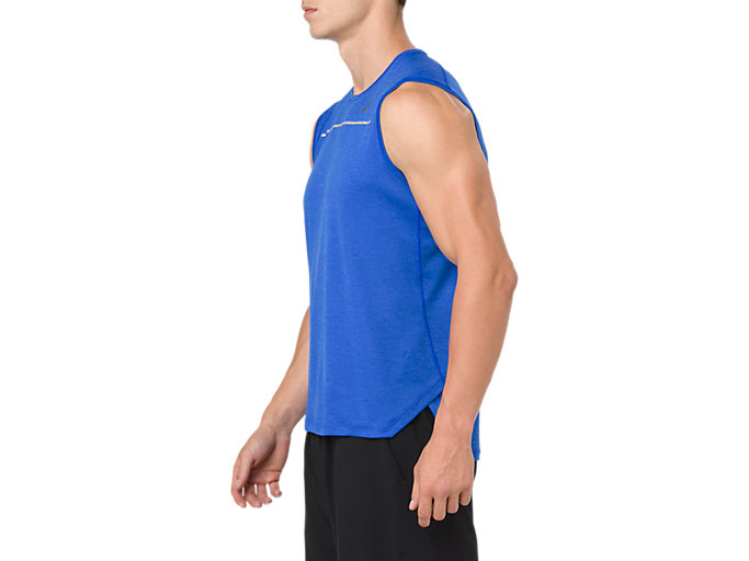 Side view of LITE-SHOW SLEEVELESS, ILLUSION BLUE
