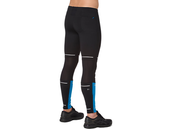 Back view of LITE-SHOW TIGHT, PERFORMANCE BLACK/RACE BLUE