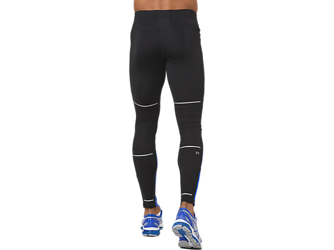 Back view of LITE-SHOW TIGHT, PERFORMANCE BLACK/ILLUSION BLUE
