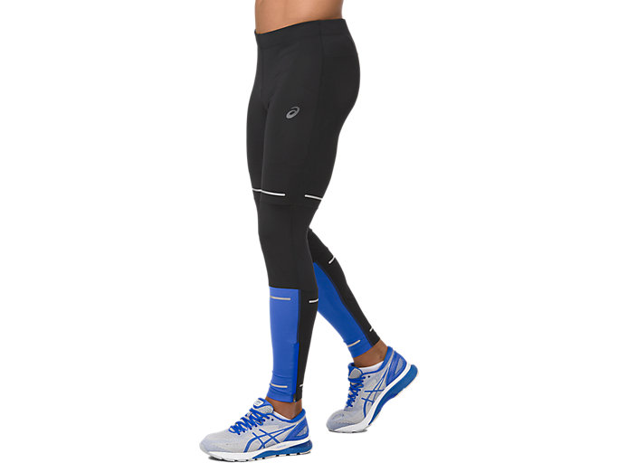 Side view of LITE-SHOW TIGHT, PERFORMANCE BLACK/ILLUSION BLUE