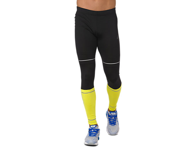 Front Top view of LITE-SHOW TIGHT, PERFORMANCE BLACK/LEMON SPARK