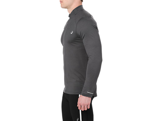 LS 1/2 ZIP JERSEY DARK GREY HEATHER