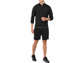 LS 1/2 ZIP JERSEY, PERFORMANCE BLACK
