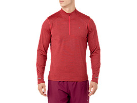 LS 1/2 ZIP JERSEY, RED ALERT