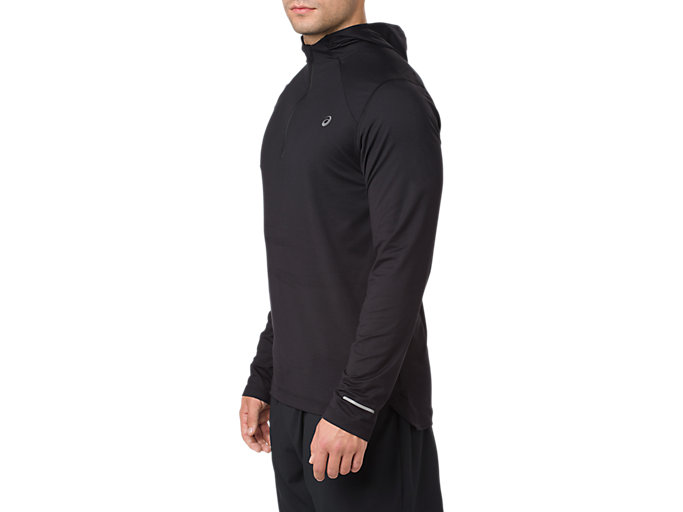 Alternative image view of LS HOODIE, PERFORMANCE BLACK