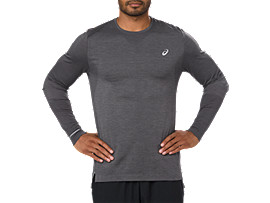 SEAMLESS LS, DARK GREY HEATHER