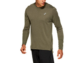 Front Top view of SEAMLESS LS, MANTLE GREEN