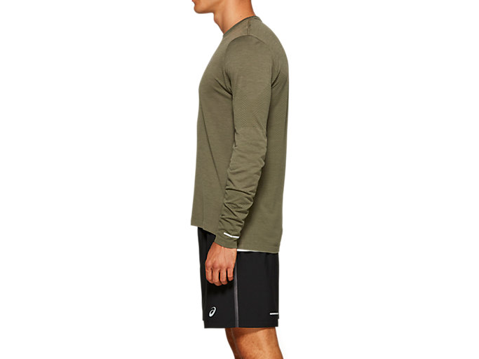 Side view of SEAMLESS LS, MANTLE GREEN