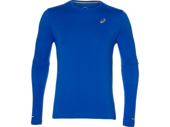 SEAMLESS LS, RACE BLUE HEATHER