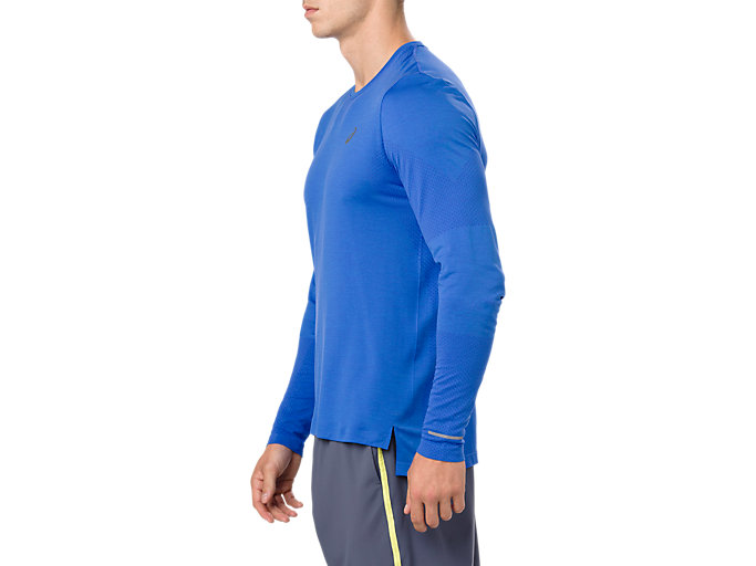 Side view of SEAMLESS LS, ILLUSION BLUE