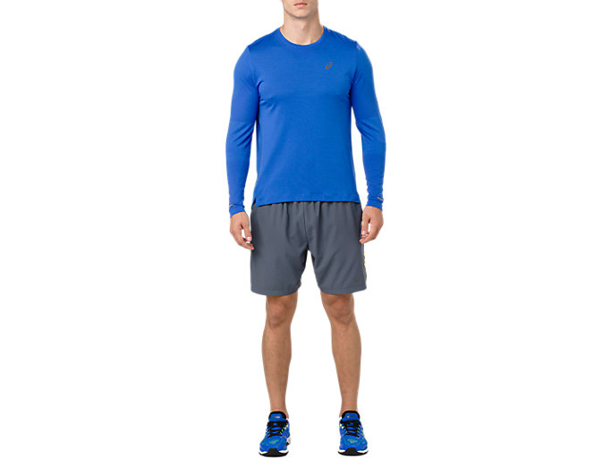 Front Top view of SEAMLESS LS, ILLUSION BLUE