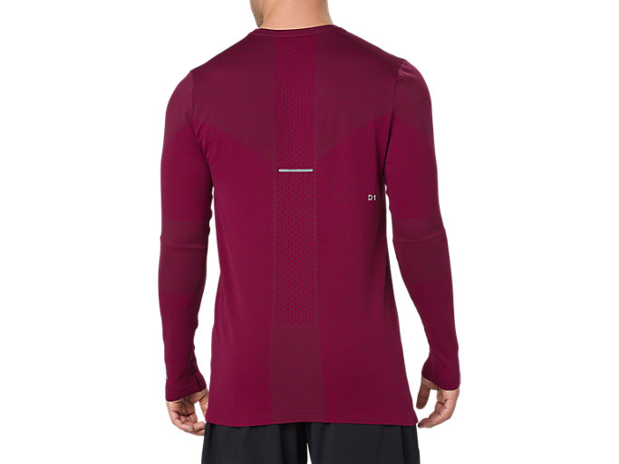 Back view of SEAMLESS LS, CORDOVAN