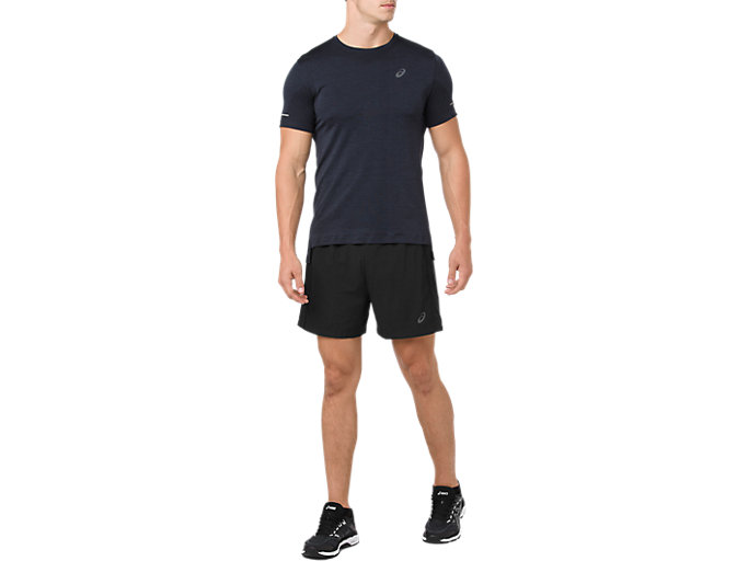 Front Top view of SEAMLESS SS, DARK GREY