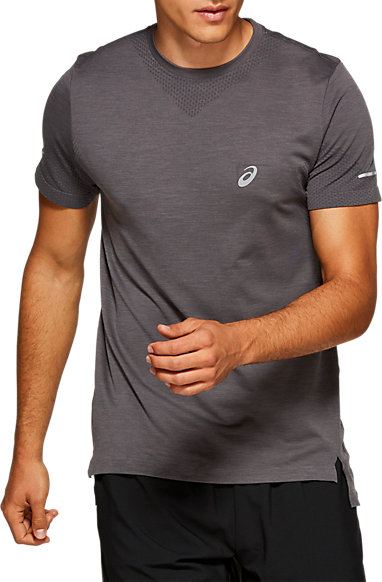 99c1a3f6d5b8e0 Seamless Short Sleeve Top | MEN | Dark Grey Heather | ASICS US