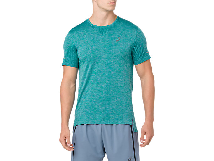 Front Top view of SEAMLESS SS, BERYL GREEN