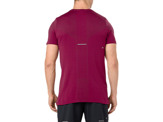 Back view of SEAMLESS SS, CORDOVAN HEATHER